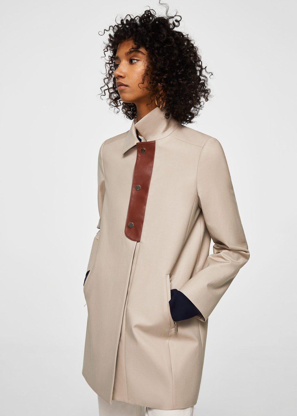 MANGO Trenchcoat aus Baumwolle mit Knöpfen | Bekleidung > Mäntel > Trenchcoats | MANGO