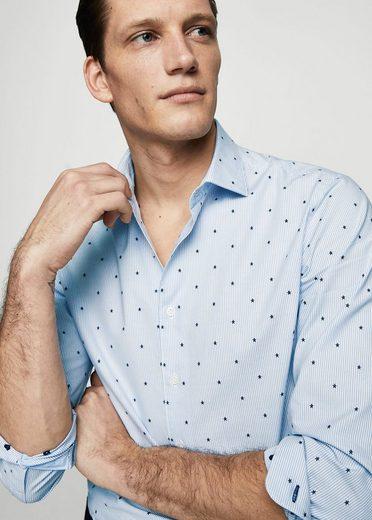 MANGO MAN Slim Fit-Hemd mit Kontrastdesign