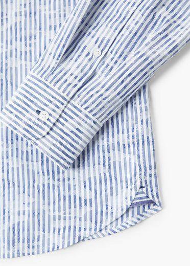 MANGO MAN Bedrucktes Slim Fit Baumwollhemd