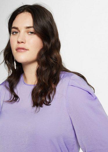 VIOLETA by Mango T-Shirt mit Plisseeärmeln