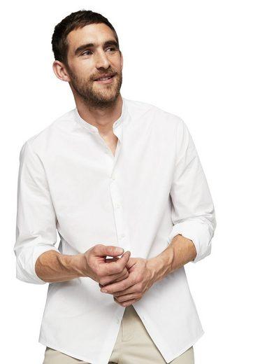 MANGO MAN Slim Fit-Hemd mit Stehkragen aus Baumwolle