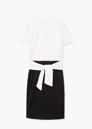 MANGO Kleid mit Kontrast-Design