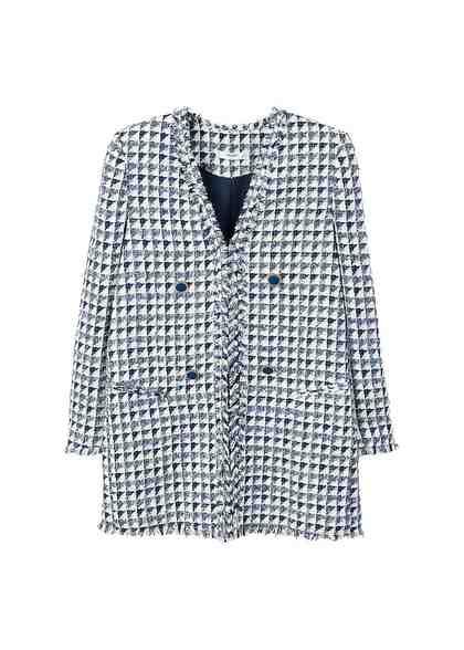 MANGO Zweifarbiger Tweed-Blazer