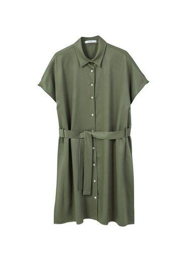 MANGO Fließendes Kleid mit Gürtel