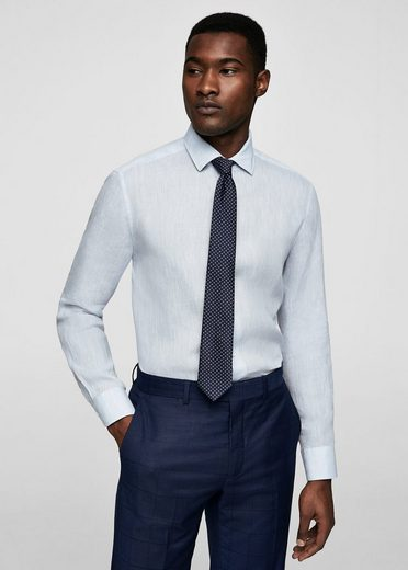 MANGO MAN Tailored Slim Fit-Hemd aus Leinen