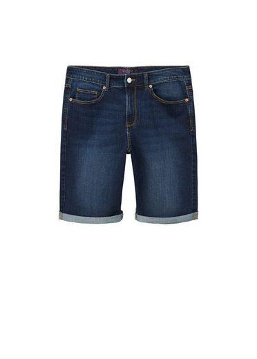 VIOLETA by Mango Dunkle Jeans-Bermudas