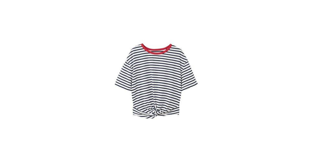 MANGO Gestreiftes Shirt mit Knotendetail Billig Zahlung Mit Visa Freies Verschiffen Günstig Online Günstig Kaufen Gut Verkaufen Auslass Offiziellen Z4OLdo