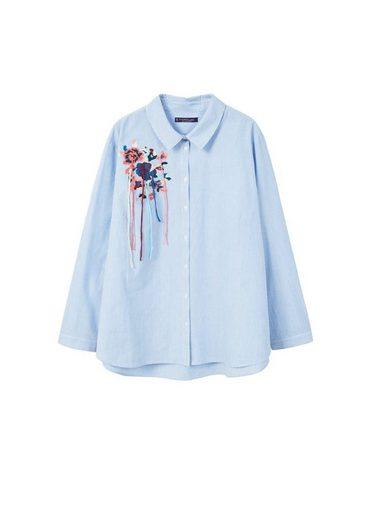 VIOLETA by Mango Besticktes Streifenhemd