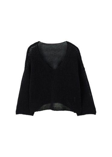 MANGO Oversized Pullover aus Baumwolle