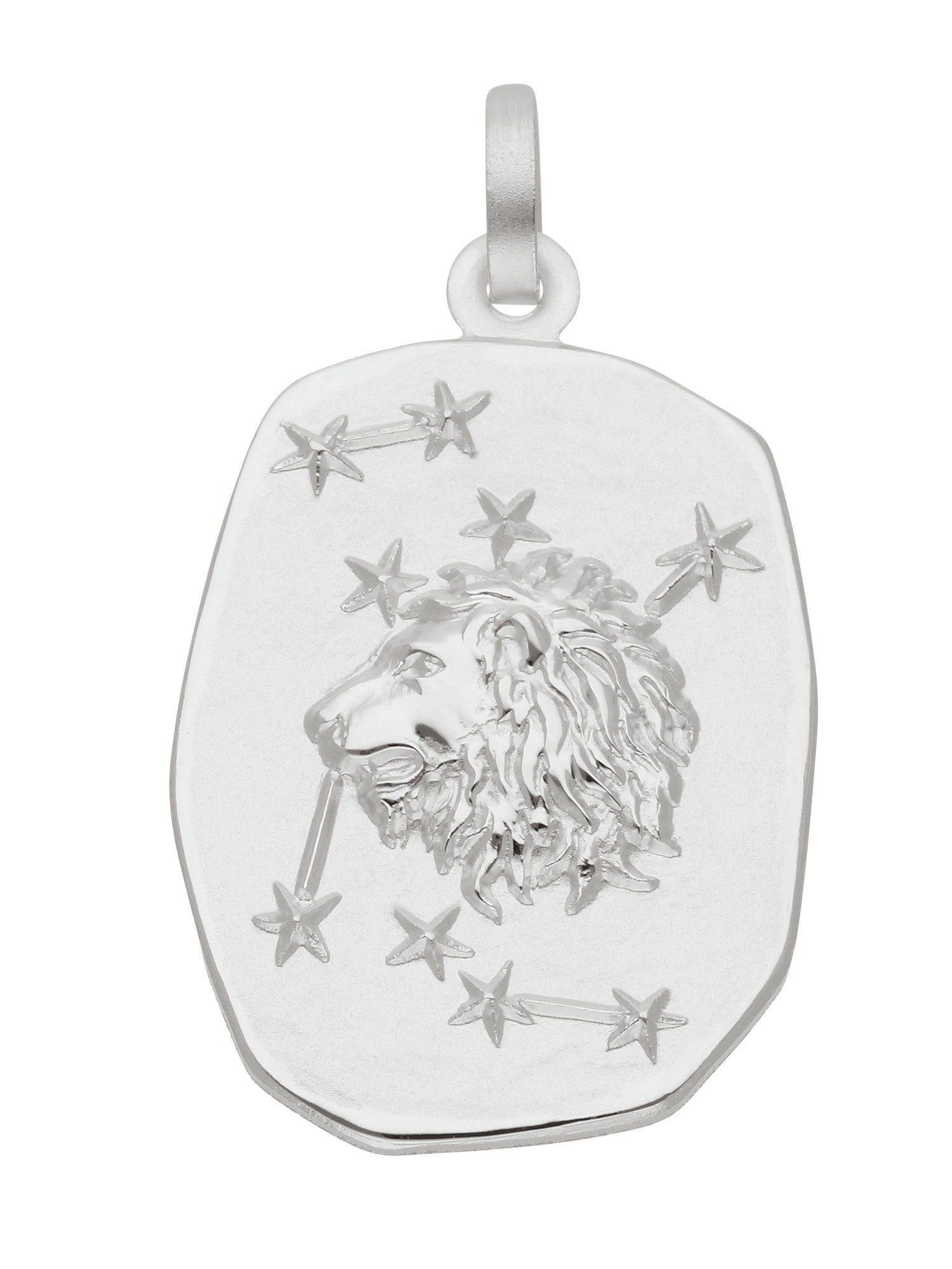 Adelia´s Kettenanhänger »Sternzeichen Silber Anhänger«, Löwe 925 Sterling Silber