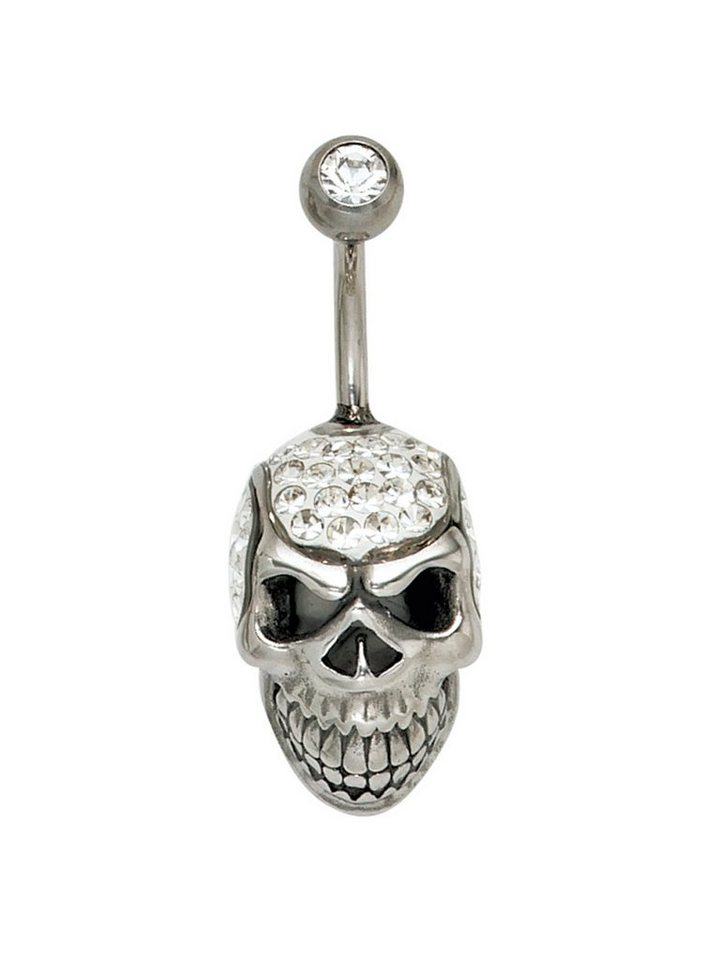 Adelia´s Bauchnabelpiercing »Totenkopf« 925 Silber mit Swarovski Kristall   Schmuck > Piercings > Sonstige Piercing   Adelia´s