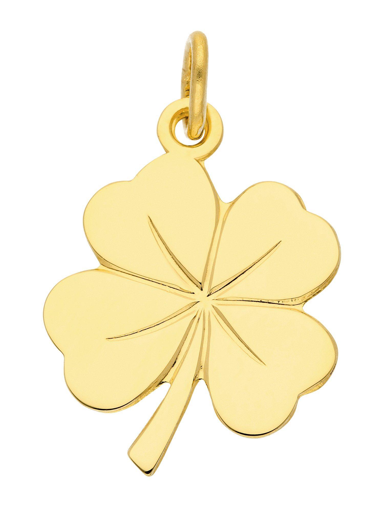 Kettenanhänger »Gold Anhänger«, Kleeblatt
