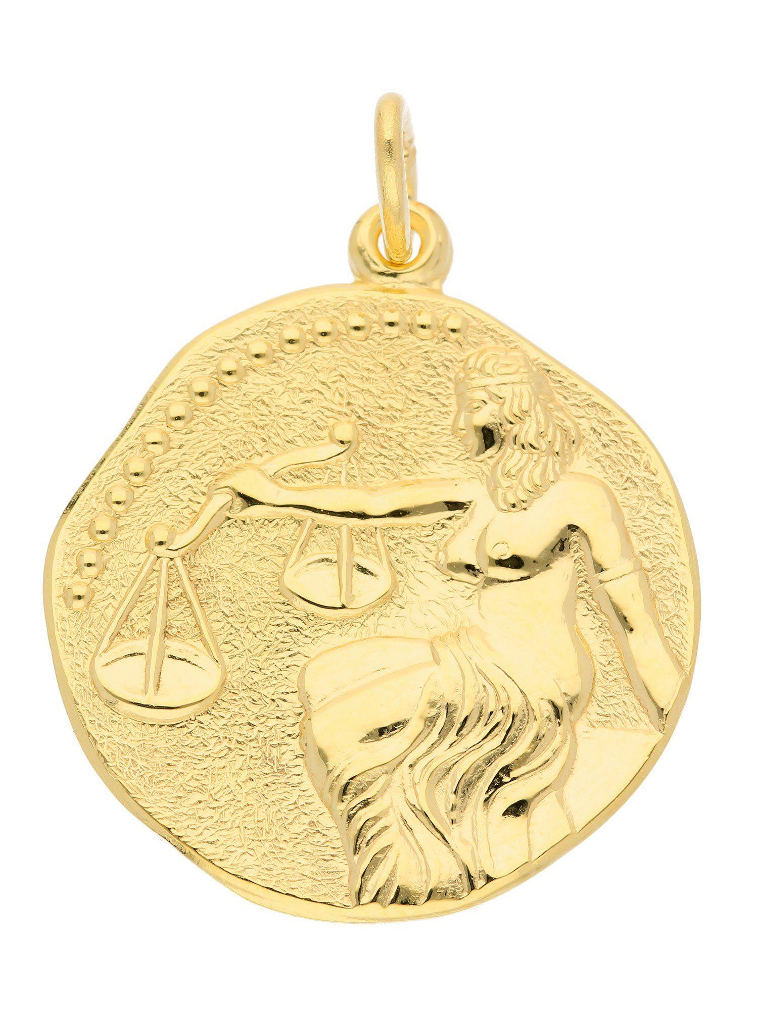 Adelia´s Kettenanhänger »Sternzeichen Gold Anhänger«, 8 k 333 Waage