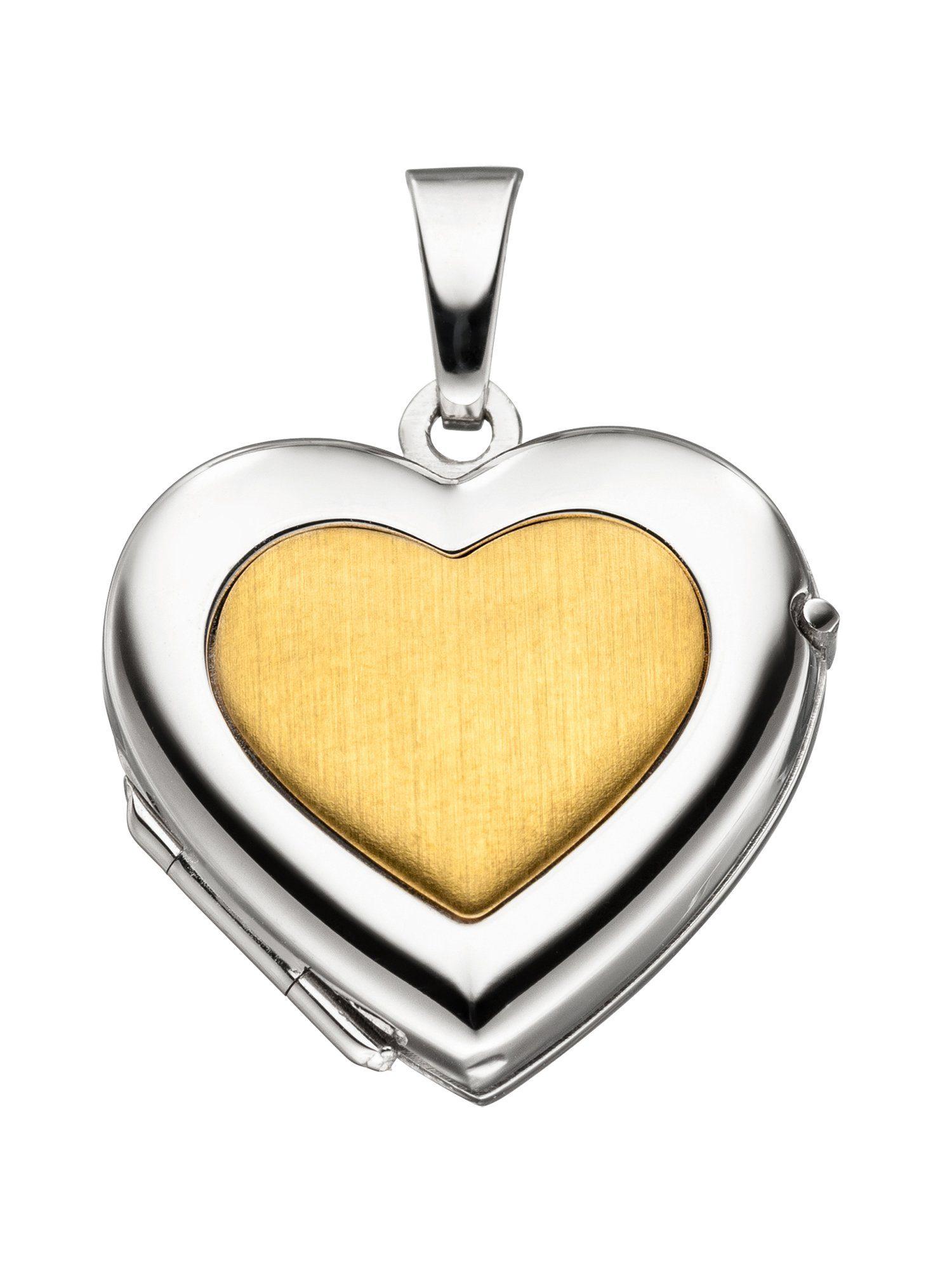 Adelia´s Kettenanhänger »Medaillon Herz Anhänger« 333 Gold