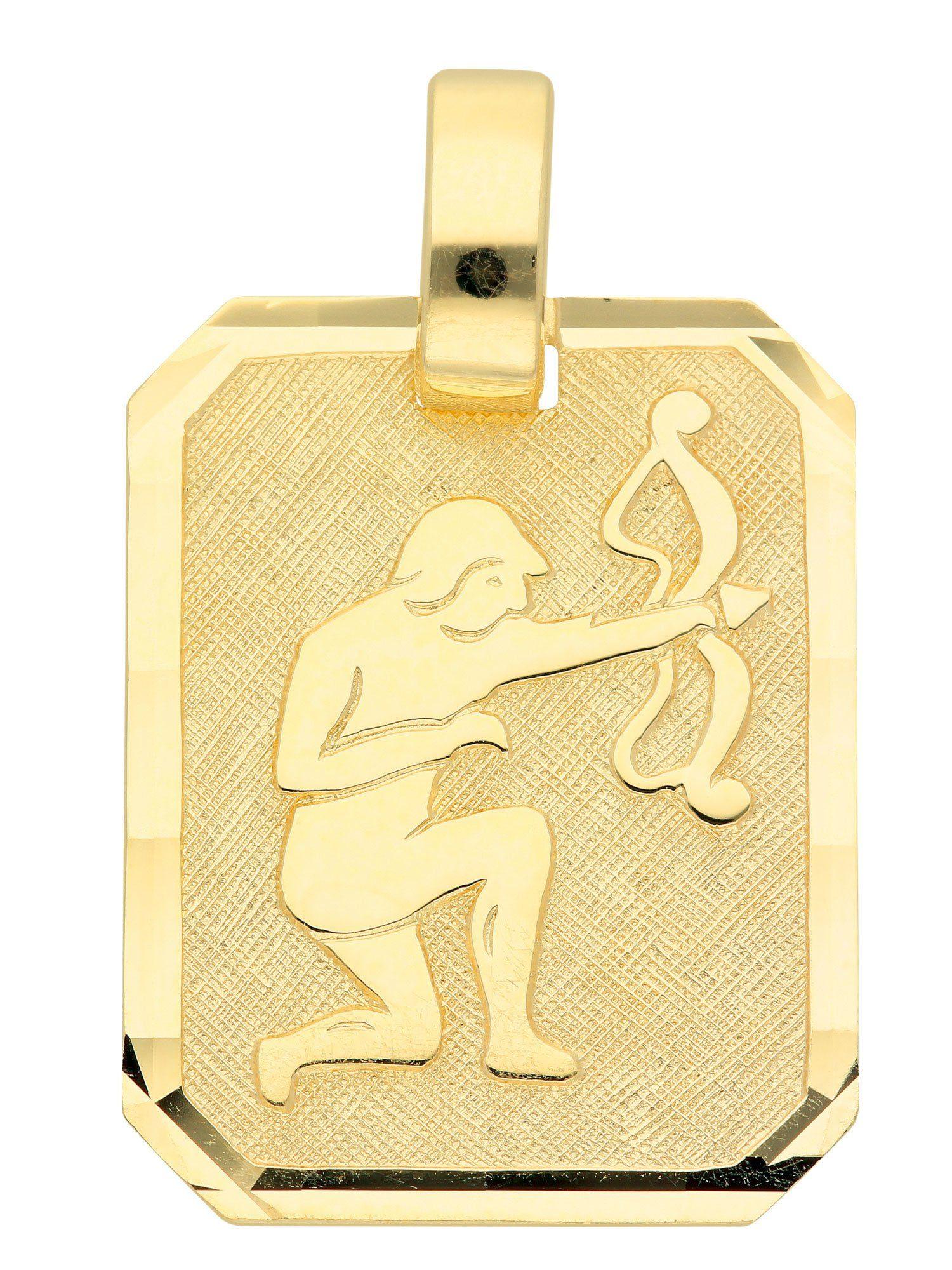 Adelia´s Kettenanhänger »Sternzeichen Gold Anhänger«, 8 k 333 Schütze