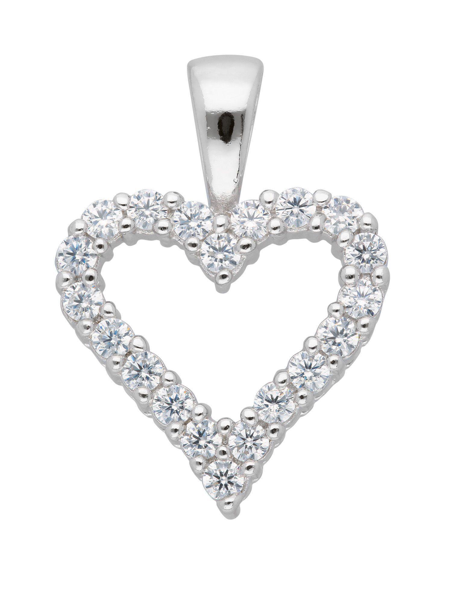 Adelia´s Kettenanhänger »Silber Anhänger«, mit Zirkonia