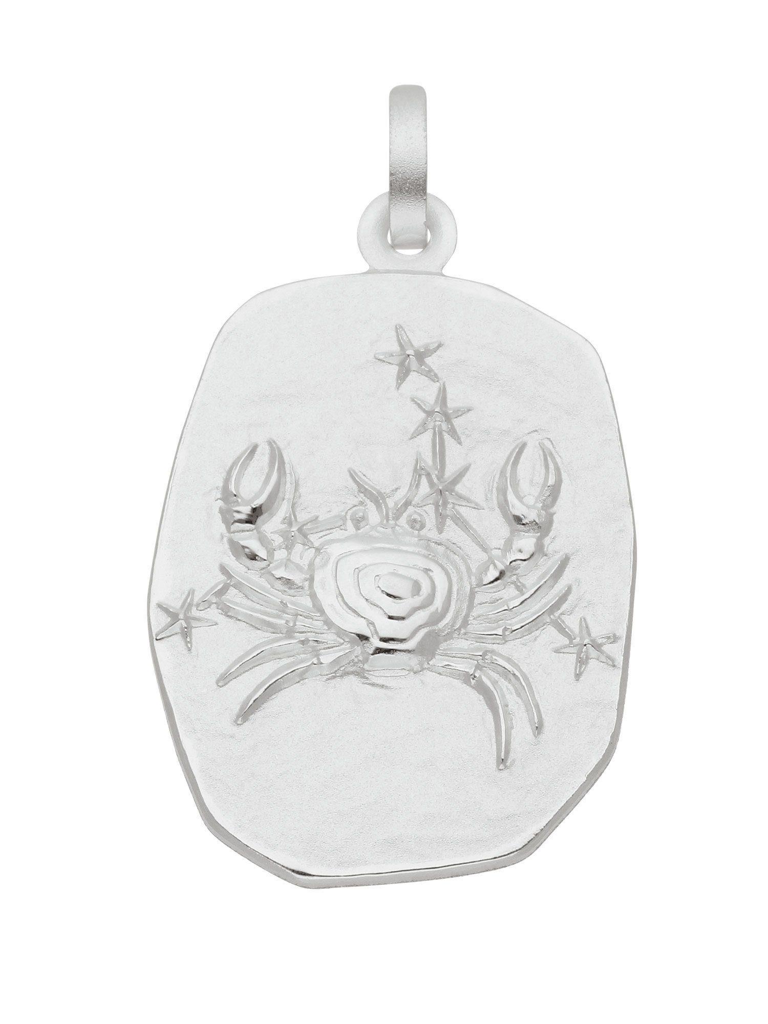 Adelia´s Kettenanhänger »Sternzeichen Silber Anhänger«, Krebs