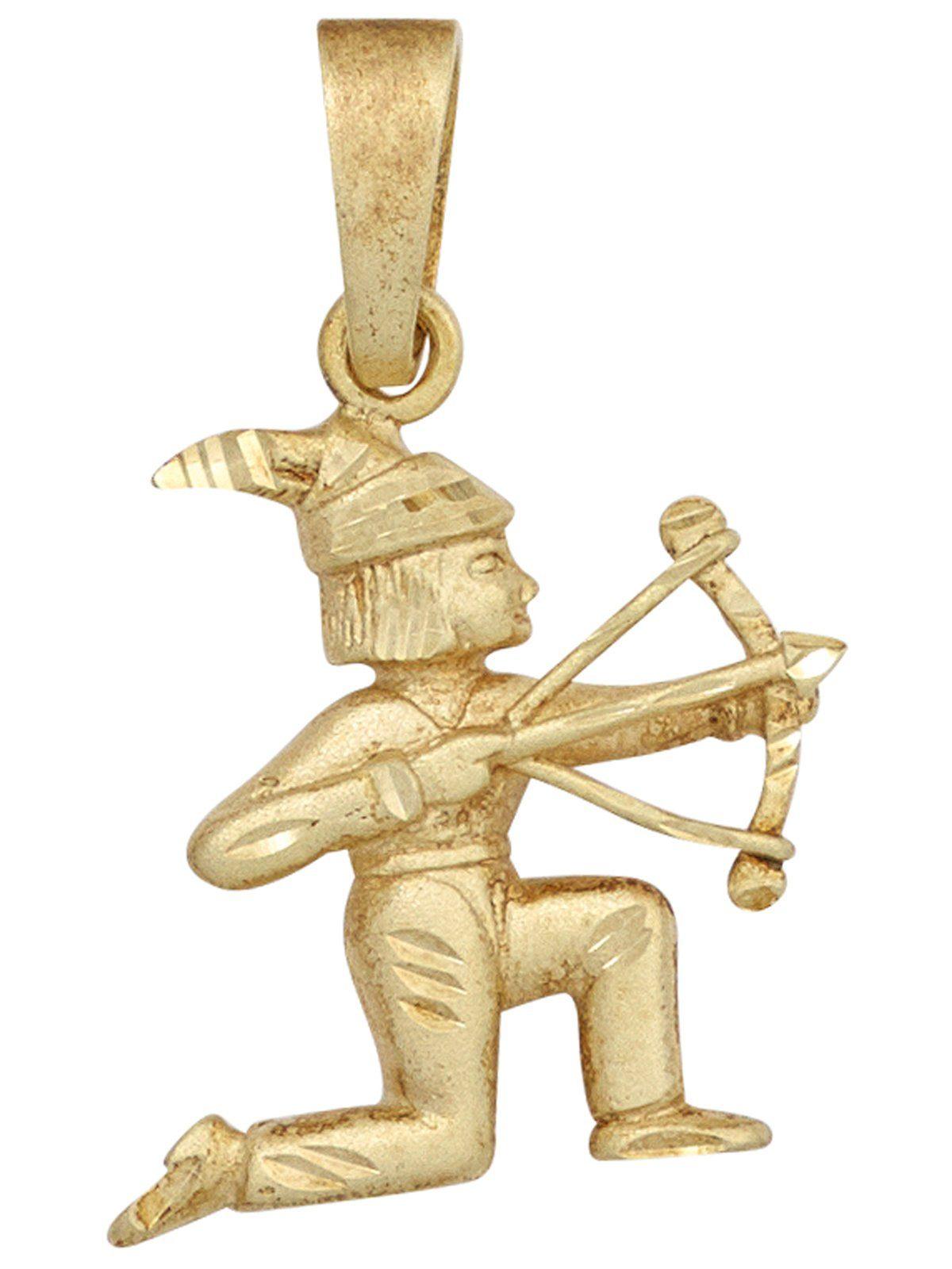 Adelia´s Kettenanhänger »Sternzeichen Anhänger Schütze«, 585 Gold