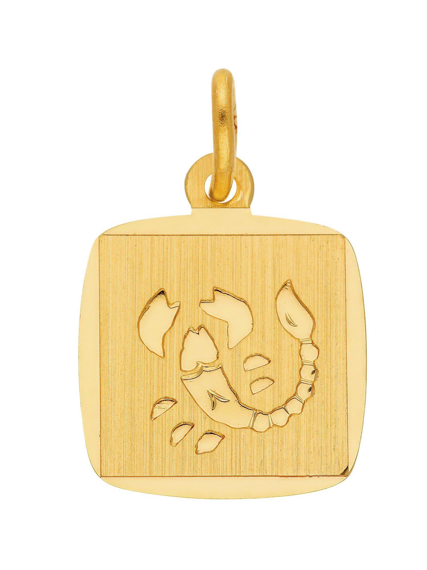 Adelia´s Kettenanhänger »Sternzeichen Gold Anhänger«, 8 k 333 Skorpion