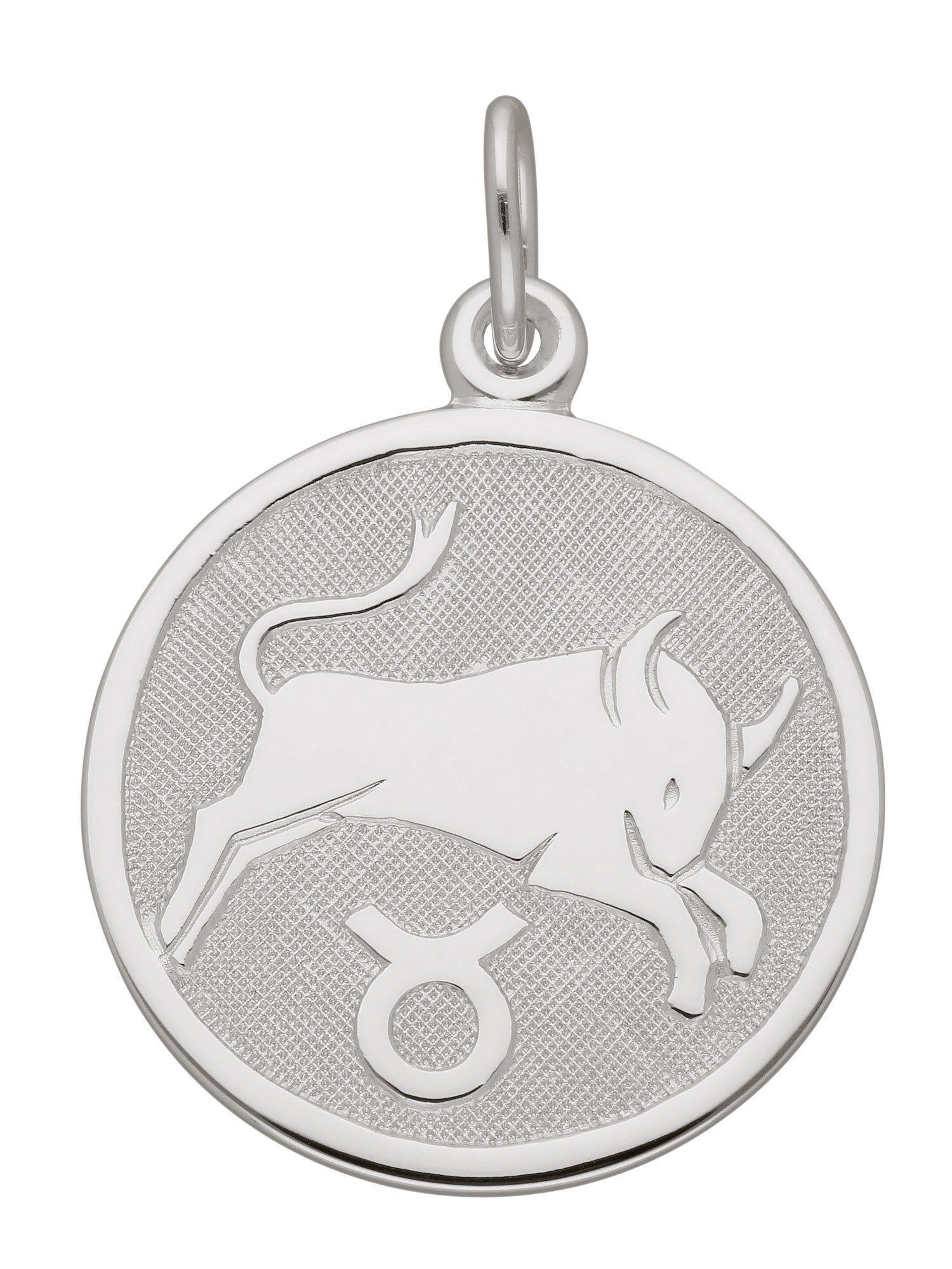 Adelia´s Kettenanhänger »Sternzeichen Silber Anhänger«, Stier