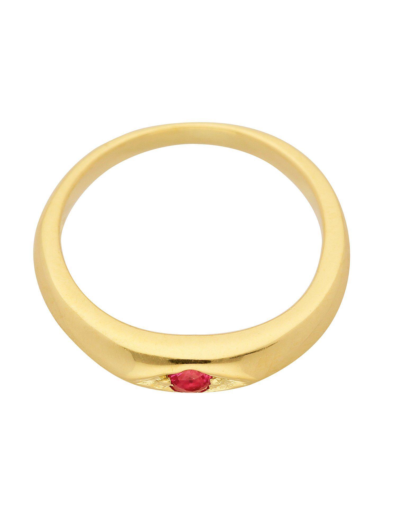 Adelia´s Kettenanhänger »Gold Anhänger«, Taufring mit Rubin