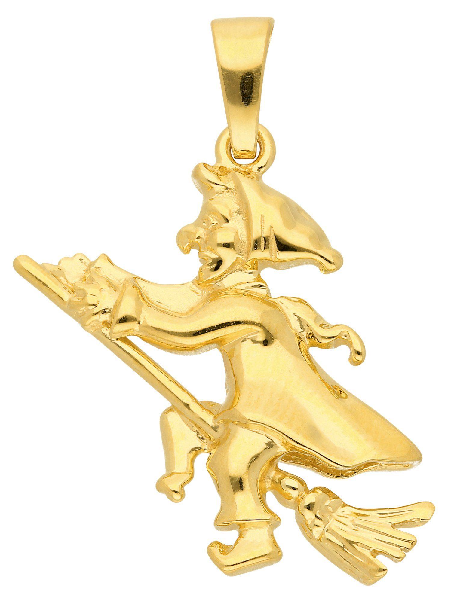 Adelia´s Kettenanhänger »Gold Anhänger«, 8 k 333 Hexe