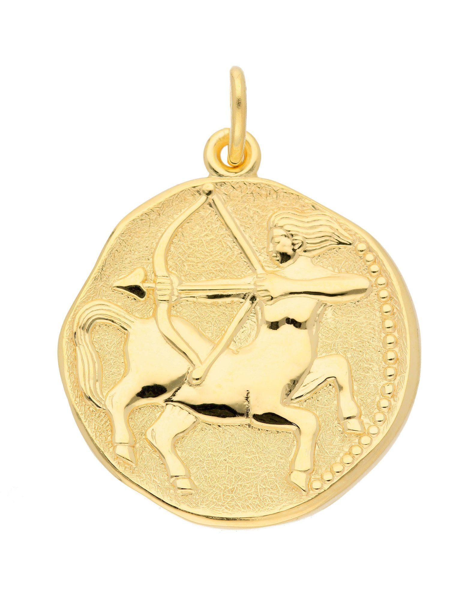 Adelia´s Kettenanhänger »Sternzeichen Gold Anhänger«, Schütze 8 k 333 Gelbgold Ø 18,2 mm