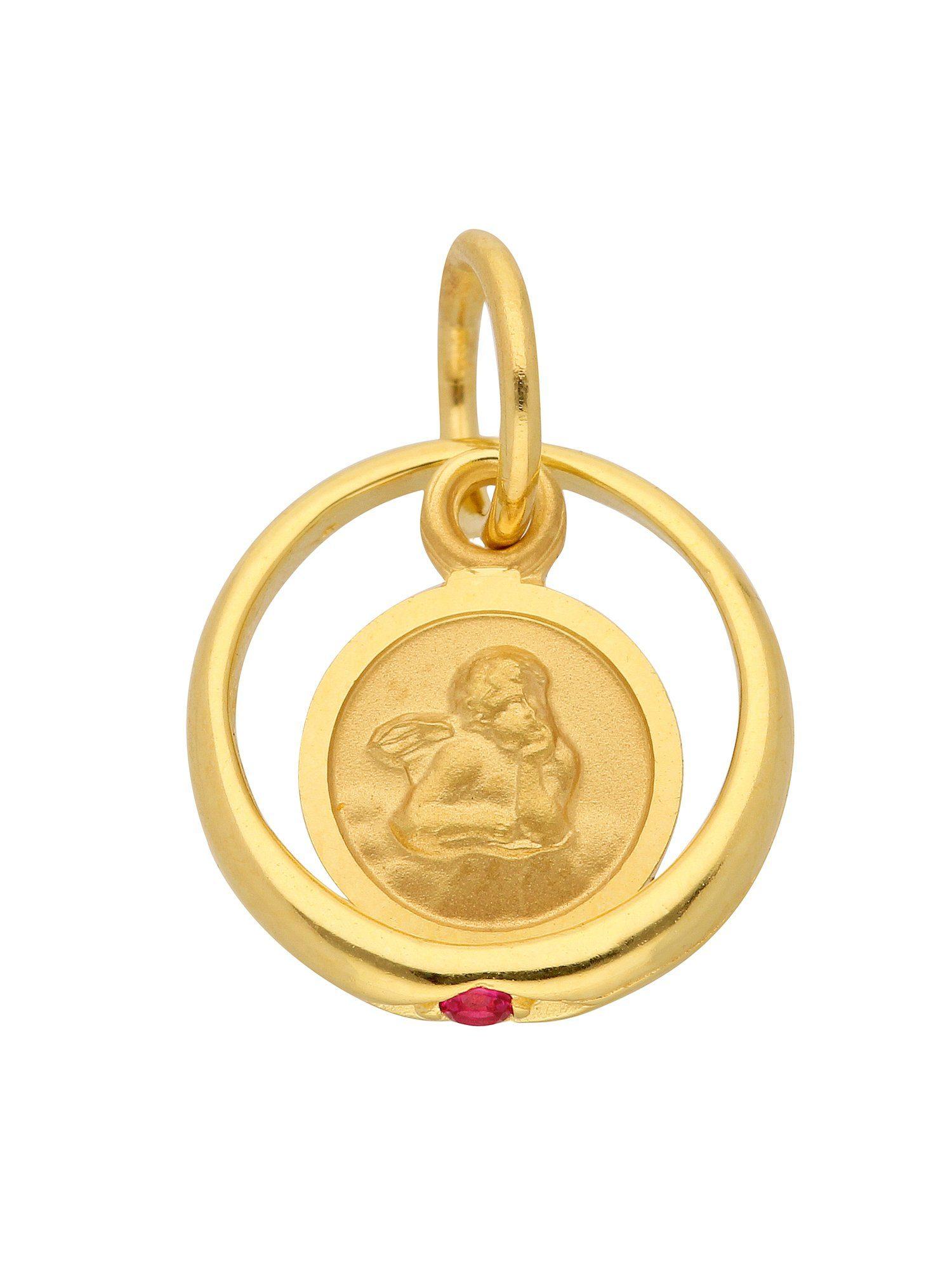 Adelia´s Kettenanhänger »Gold Anhänger«, Taufring 8 k 333 Gelbgold mit Rubin Ø 10,1 mm