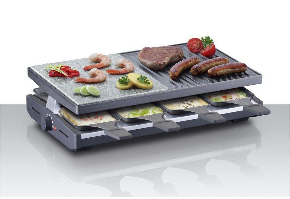 Steba Raclette RC 58, 1200 Watt, Edelstahlgehäuse in grau