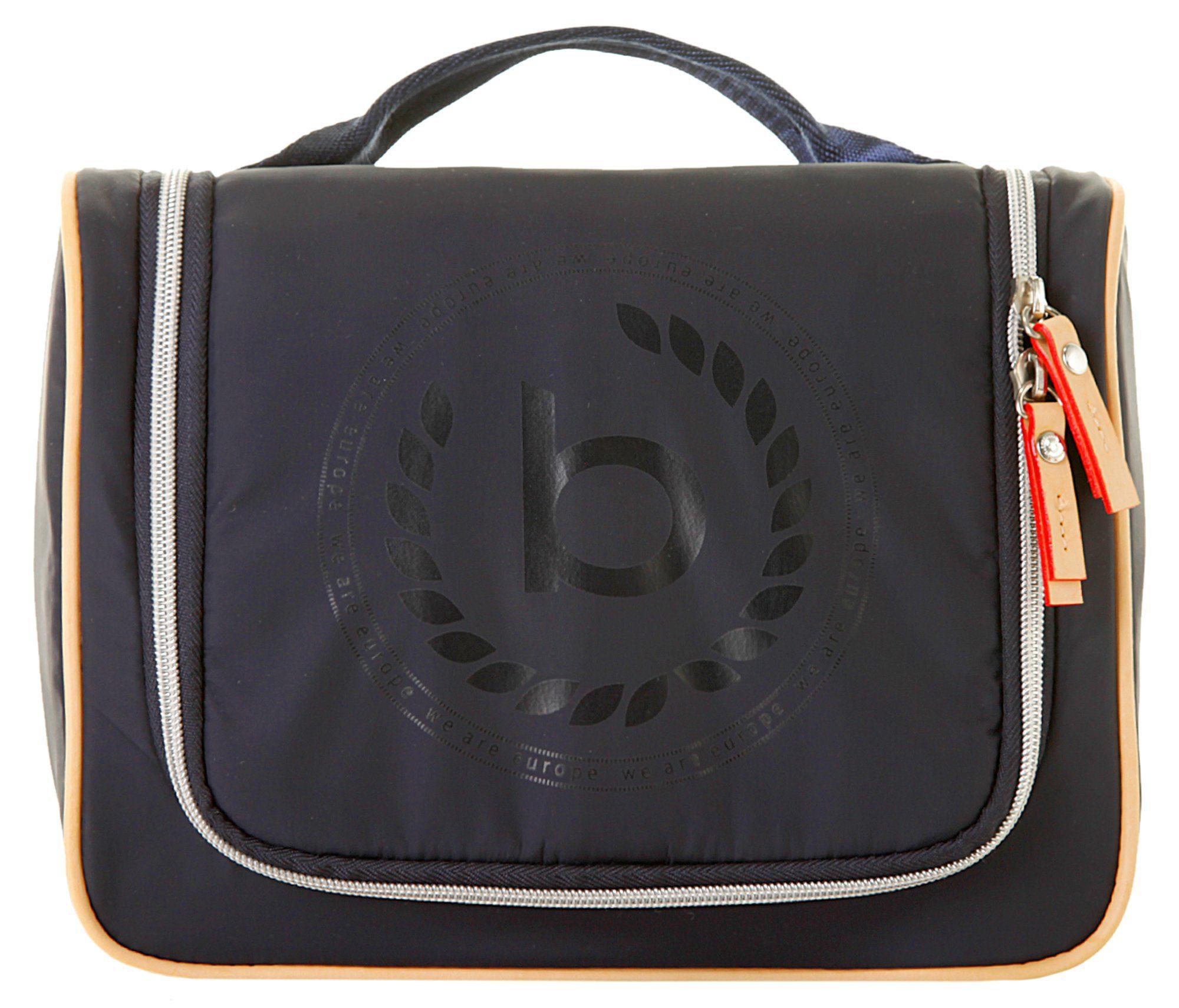 Unisex bugatti Kulturbeutel »LIDO« (1-tlg), besonders leicht blau, schwarz | 04250060347645