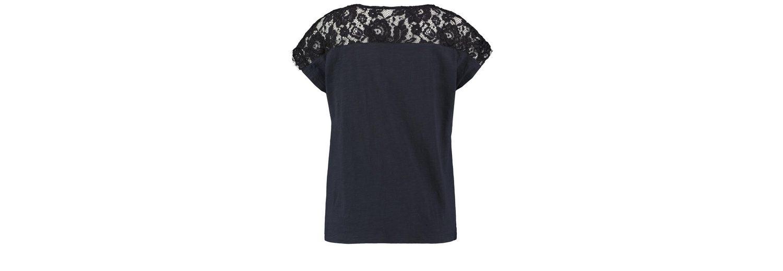 Billig Bequem Shop Günstigen Preis Taifun T-Shirt Kurzarm Rundhals Shirt mit Spitze Viele Arten Von Ausverkauf IHh2i1o6R