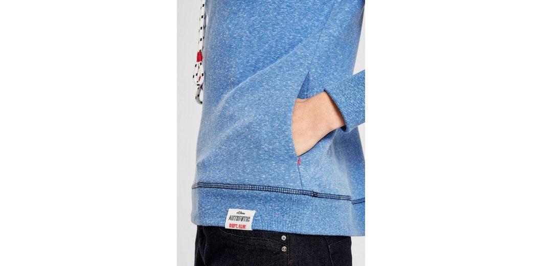 s.Oliver RED LABEL Sweatshirt mit Turtleneck Sonnenschein Freies Verschiffen Austrittsstellen Günstige Top-Qualität Brandneues Unisex Günstiger Preis Günstige Rabatte VxmRj