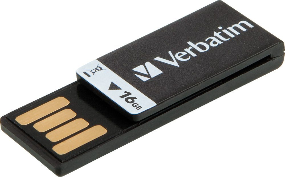 Verbatim USB 2.0 Stick 16GB, Clip-it, schwarz
