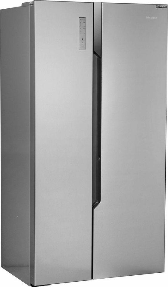 Hisense Side By Side RS670N4BC3, 178,6 Cm Hoch, 91 Cm