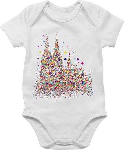 Shirtracer Shirtbody »Kölner Dom Konfetti - Baby Karneval Outfit - Baby Body Kurzarm« Faschingskostüm Ersatz Kleidung Strampler Babykleidung
