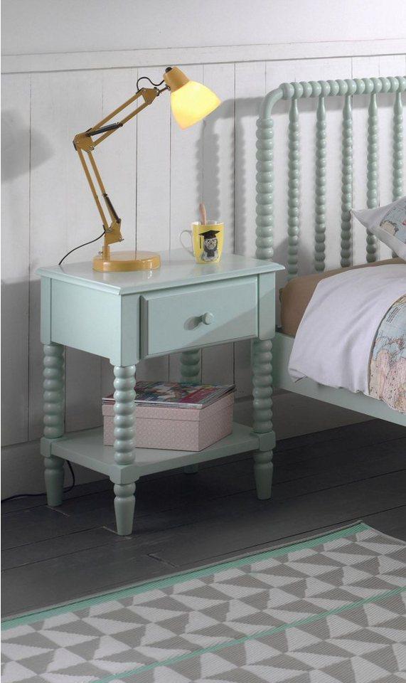 Vipack Nachttisch »Alana«, Massivholz mit MDF-Oberfläche | Schlafzimmer > Nachttische | Grün | Vipack