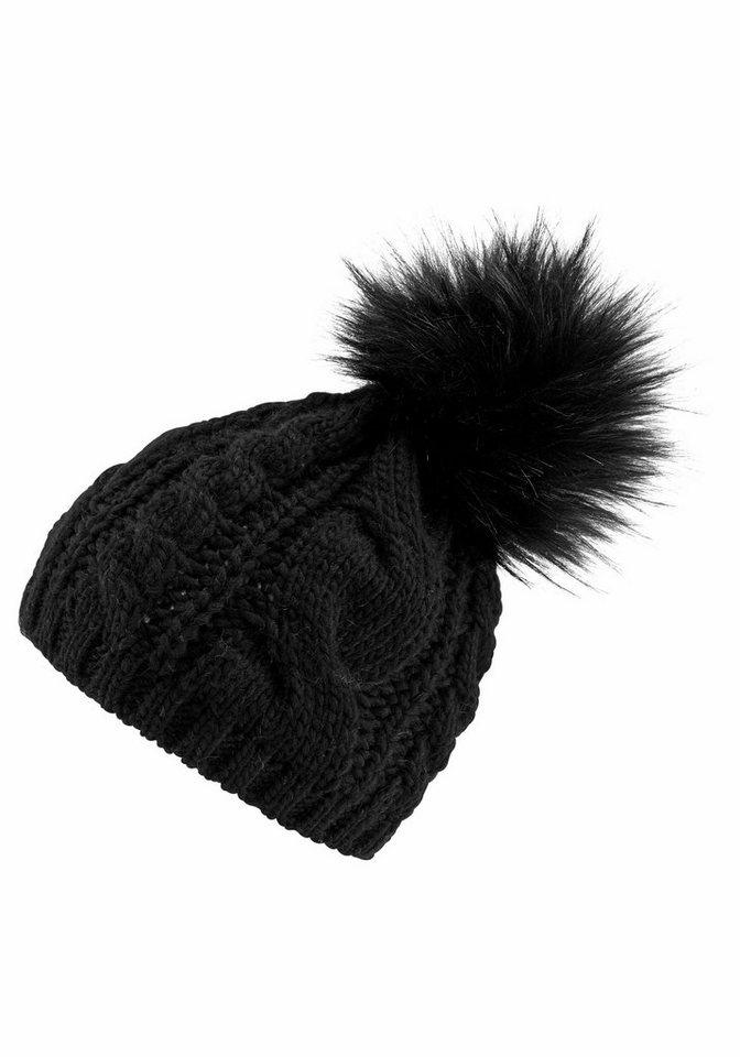 0462f36b463166 J.Jayz Strickmütze (1-St) mit Zopfmuster, Fake Fur Bommel, Wintermütze  online kaufen | OTTO