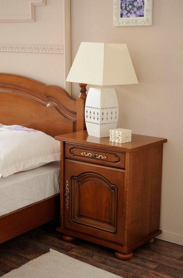 premium by home affaire nachttisch berry hochwertig verarbeitet mit echtholzfurnier eiche. Black Bedroom Furniture Sets. Home Design Ideas