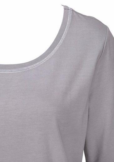 Shirt Lascana Hellgrau Ärmeln Mit Halblangen QdtsBrCohx
