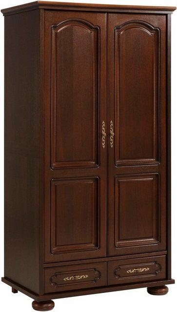 Kleiderschränke - Premium by Home affaire Kleiderschrank »Berry« hochwertig verarbeitet mit Echtholzfurnier, wallnussfarben  - Onlineshop OTTO