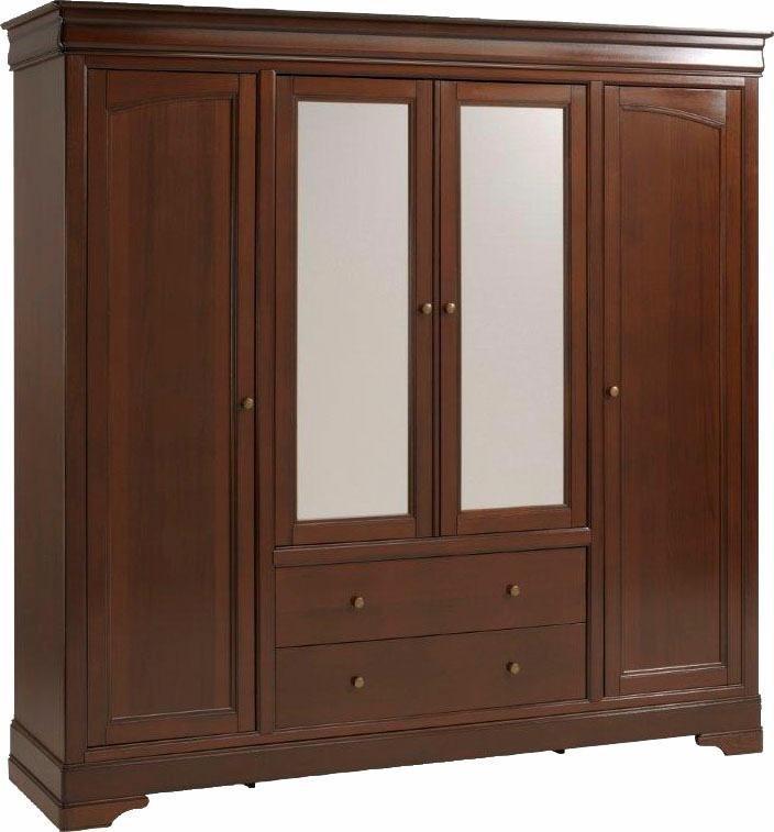 premium by home affaire kleiderschrank 4 t rig mit spiegel teilmassiv online kaufen otto. Black Bedroom Furniture Sets. Home Design Ideas