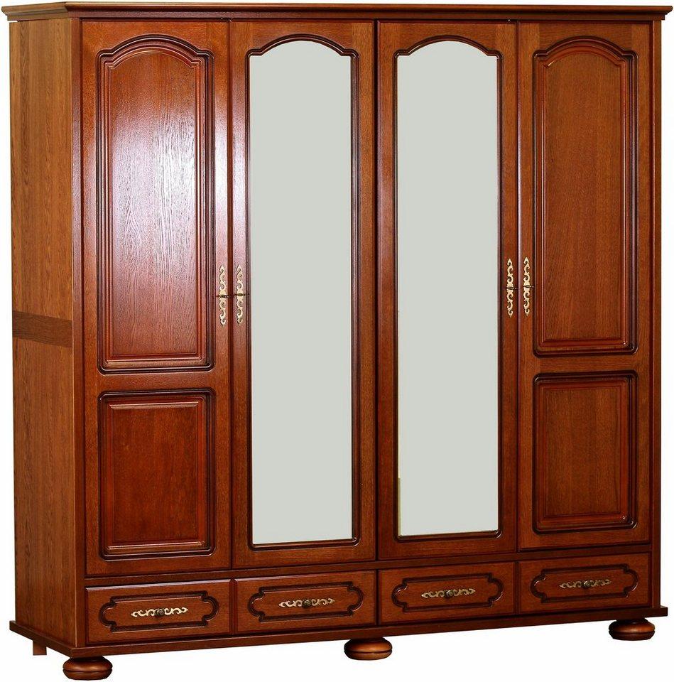 premium by home affaire kleiderschrank berry hochwertig verarbeitet mit echtholzfurnier eiche. Black Bedroom Furniture Sets. Home Design Ideas
