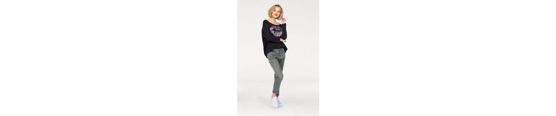 Please Jeans Boyfriend-Hose P6AG, mit abgerundeten Ziernähten