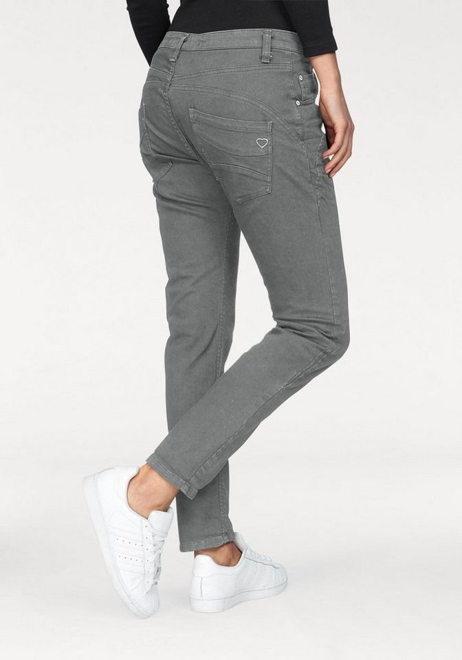 please jeans boyfriend hose p6ag mit abgerundeten. Black Bedroom Furniture Sets. Home Design Ideas