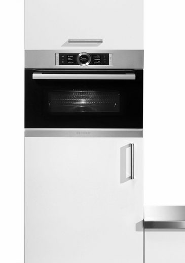 BOSCH Backofen mit Mikrowelle CMG636BS2, ecoClean