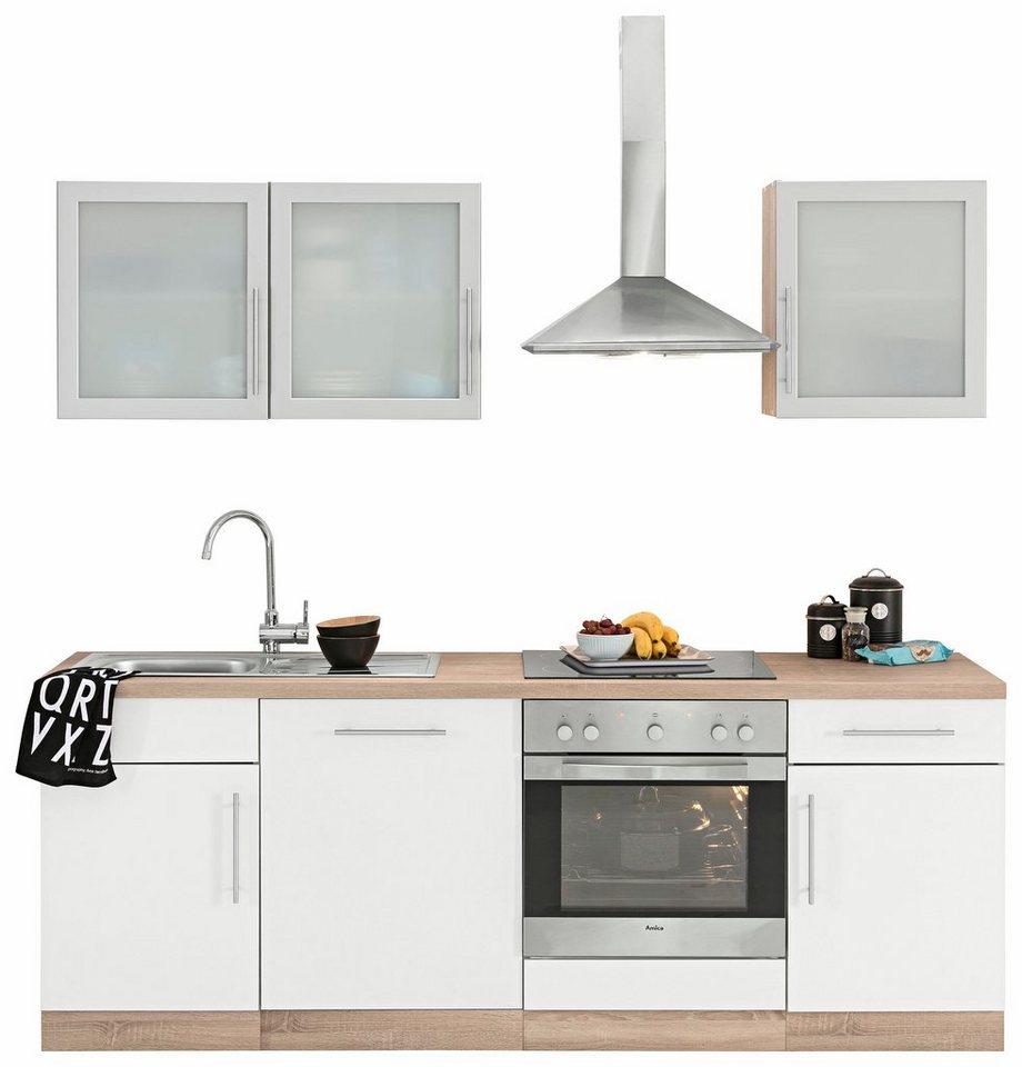 wiho Küchen Küchenzeile »Aachen«, mit E-Geräten, Breite 16 cm online  kaufen  OTTO