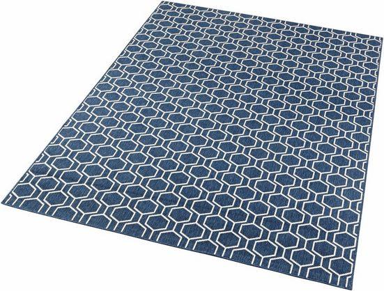 Teppich »Novalie«, freundin Home Collection, rechteckig, Höhe 4 mm, Flachgewebe, Allover Design
