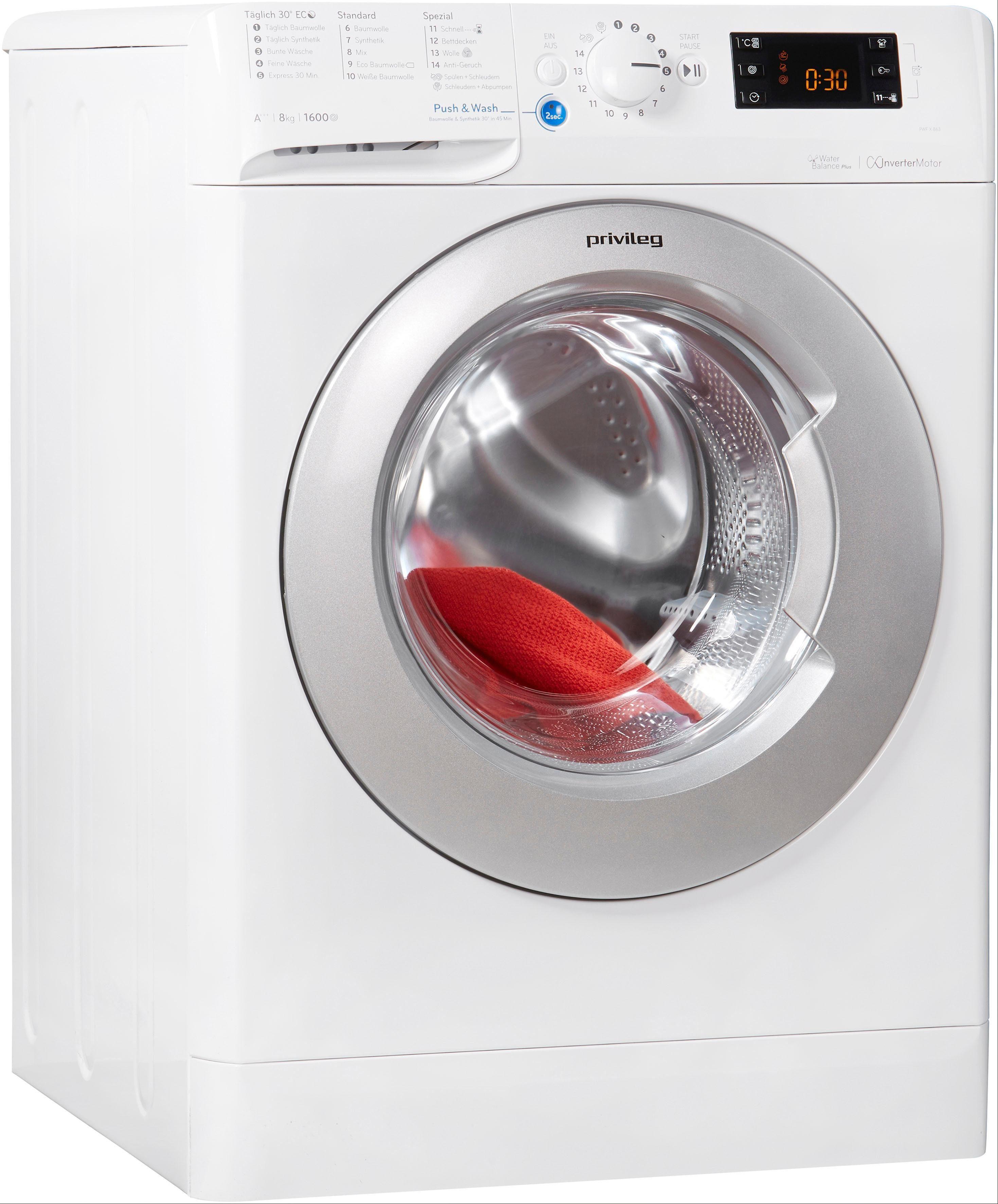 Privileg Family Edition Waschmaschine Family Edition PWF X 863, 8 kg, 1600 U/Min