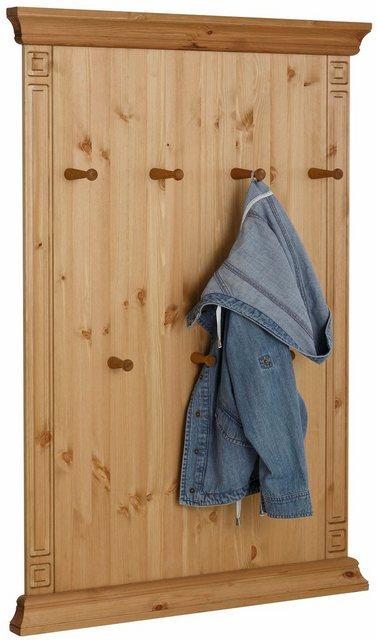Garderobenleisten und Haken - Home affaire Wandpaneel »Vinales«, Höhe 122 cm aus massiver Kiefer  - Onlineshop OTTO