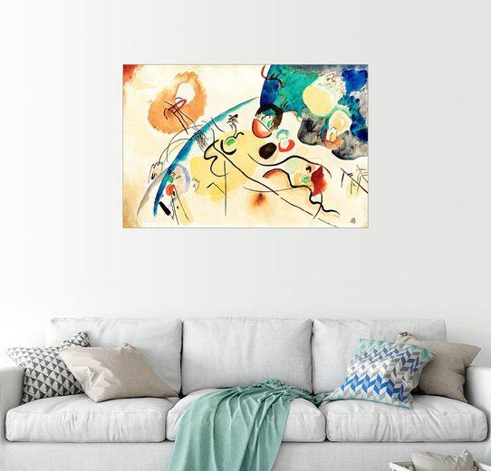 Posterlounge Wandbild - Wassily Kandinsky »Ohne Titel (Komposition mit Trojka-Motiv)«